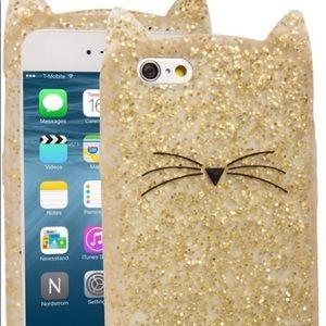 Kate Spade New York Glitter Cat iPhone Case 6/6s